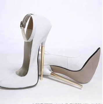 free shipping women shoes 18CM sexy high heels / metal with high-heeled shoes Color: black, red. Silver. Gold. White(China (Mainland))