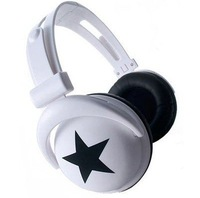 MixStyle star/skull headphone earphone for mobile phone /computer/mp3/mp4