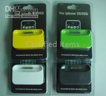 hot saling for super deals for Christmas colorful Mobile Phone Docking Station For iPhone 3G/3GS(China (Mainland))