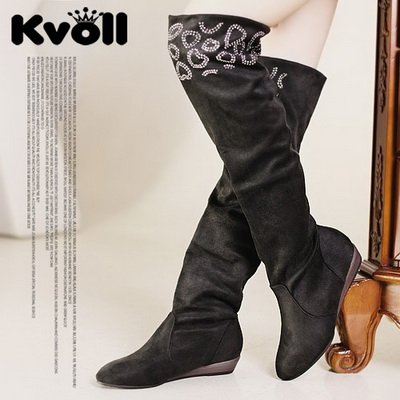 KS11092322 free shipping new arrival KVOLL fashionable stereoscopic exquisite and beautiful hot drill high-heel shoes(China (Mainland))