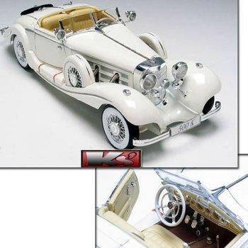 Good quality 1:18 1936 Mercedez-BENZ 500K model car(white color) Free Shipping