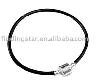 10 PCS BLACK LEATHER  CHARM NECKLACE FREE SHIPPING 50CM