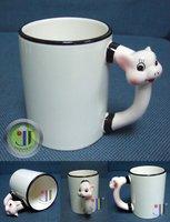 JETYOUNG Animal Coated Mug for Sublimation Ink or Heat Transfer -PIG MUG, photo mug, special gift, 36pc/pack DIY gift