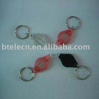 Two Power on ways led mini flashlight key chain,mini torch,keychain flashlight,mini light keyring