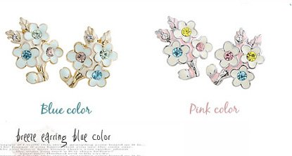Fast EMS shipping !Fashion jewelry Alloy enamel/e earring,flower earring(China (Mainland))
