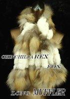 Wholesale-fashion fox fur scarf,lady's bandelet,hand tied scarf,quality