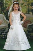 2012 Luxury Ball Gown Pink Little Queen Flower Girl Dresses Beaded Halter Children Dresses 13316 m FL-1419