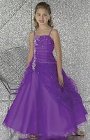 Free Shipping Ball Gown Halter Organza Flower Girls Dresses 2012  FL-1426