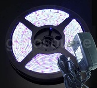 FREE SHIPPING 500CM 5M white 5050 SMD Waterproof LED Strip light + Power
