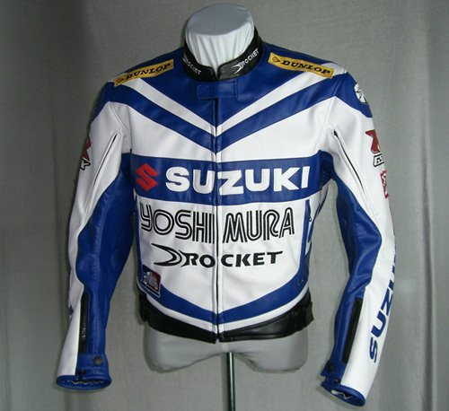 Wholesale motorcycle Jackets motorcycle jacket racing jacket Motorcycle SUZUKI jacket white/blue waterproo ...