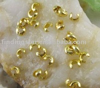 FREE SHIPPING 1000PCS gold plated crimp beads covers 3mm M3050