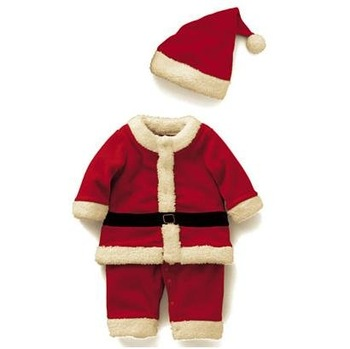 Costume baby rompers Santa Claus romper coverall father christmas clothing with cap CL84