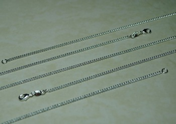 "Free Shipping 10pcs 925 Silver flat snake Chain Necklace 18"" 2mm"