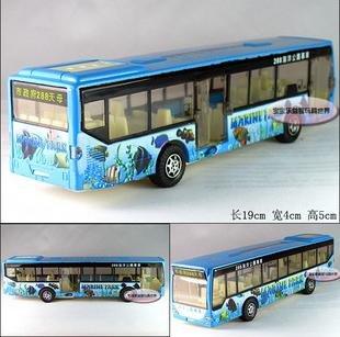 Frete grátis - Atacado e retai Ocean Park carro, ônibus / som e versão light de modelos de carros de liga presente / Natal(China (Mainland))