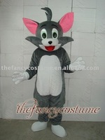 Gray Tom cat  adult mascot costumes Mascot Costume Adult Size Free Shipping