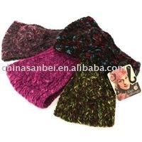 Handmade Knit Crochet Headwrap flower Headbands multi-color
