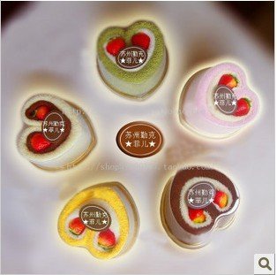 christmas and wedding gift Sweet Heart cake shape Towel,Mixed Color 100% Cotton Sweet Gift Choice 100pcs/lot+ free shipping(China (Mainland))
