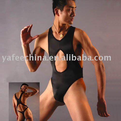 Wholesale and Retail Stretch Bodysuit Brief Black Men's Sexy Underwear ...