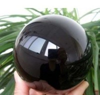 NATURAL OBSIDIAN POLISHED CRYSTAL SPHERE 60mm BALL free shoping