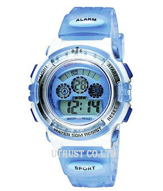 Free Shipping New Fashion Women's Sport Watch,Water-Resistant,Alarm,Chronograph,Luminous,Chramatic Lamp(Small Size)(China (Mainland))