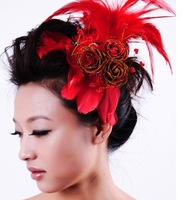 free shipping 2010 New style women's Wedding jewelry CRYSTAL Headdress flower bride tire 20pcs