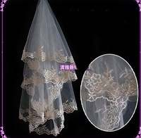 free shipping 2010 New style women's Wedding veil Bridal veil White veil 10pcs