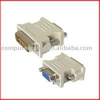 FreeShipping 50pcs DVI-I Male to VGA Female Adapter Converter HDTV LCD TV