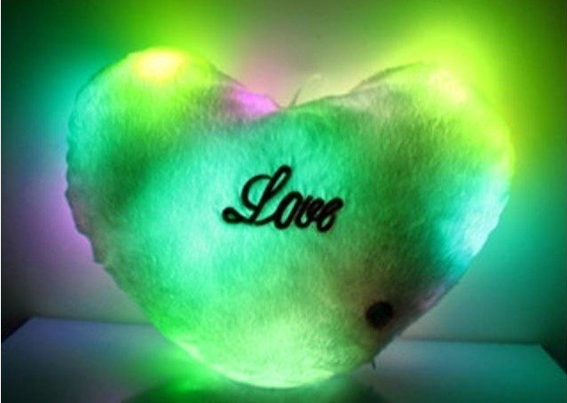 Wholesale - Lucky love colorful , Colorful LED Pillow / strange new friend birthday ideas gifts,Free shipping 50pcs/lot(China (Mainland))