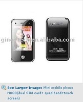 cheap phones Mini mobile phone N008(dual SIM card+ quad band+touch screen)