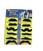 100pcs/lot 12 X Black Fake Moustache Mustaches Costume Party Fun