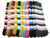 Free Shipping 50pairs/lot Ladies Girls Woman Stripes Toe  Stockings wholesale price