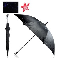 4pcs/lot EMS Free Shipping, Outdoor Twilight LED Umbrella Funky Glowing Lights and Beautiful Design,Fashion flashlight umbrella
