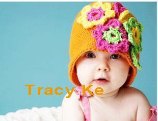 Free Shipping Cap Hat 2010 New Arrival Fashion Manual Baby Knitting Caps Wool Caps Hats(China (Mainland))
