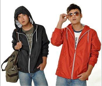 1011140 New Pargo Men's Sports Dust Coat Cap Windproof Pargo Coats