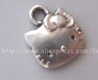 wholesale tibetan silver ( hello Kitty ) charm pendant metal charm