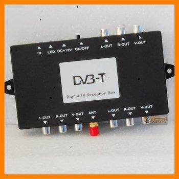 Mobile Car DVB-T Digital TV Tuner Reception Receiver Box system
