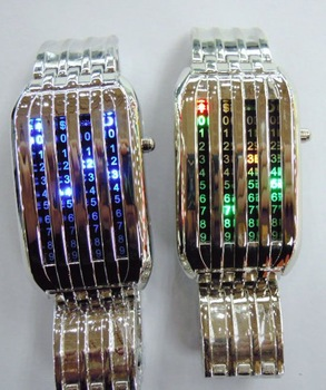 3pcs/lot Free shipping 44 lights LED watch with fashionable design of star shower