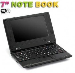"wholesale retail black  NEW 7"" Mini Netbook Laptop Notebook WIFI Windows 2GB HD free shipping"