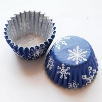 MINI cake chocolater cases cupcake snowflakes 14000pcs/box/lot