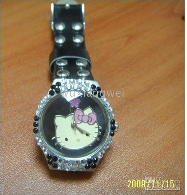 Hello Kitty Girls Lady Quartz Steel Wrist Watch Xmas C65(China (Mainland))