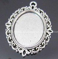Free shipping Tibetan silver photo frame charm pendants