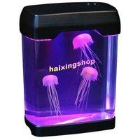 Christmas gift Magic Relaxing  LED Light Jellyfish Aquarium free shipping