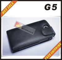 Free shipping --New high quality leather case cellphone for HTC  G5