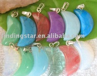 FREE SHIPPING 5 BOXES Moon Boxed Pendants WHOLESALE M7363