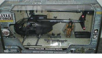 BBI US MH-6 Little Bird Night Stalker Helicopter 1/18