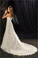 slit neckline sweet princess bride wedding dress formal dress in stock all size color free HY-15889
