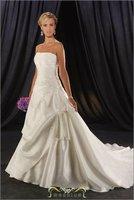 Free shipping! Love wedding rhinestone feather the bride wedding dress love formal dress 2012 sweet maternity wedding HY-15894