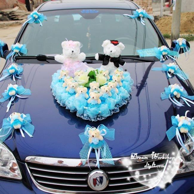 Valentijnsdag geschenk romantische bruiloft speelgoed bloem decoratie voor bruiloft limousine - Decoratie eenvoudig voor het leven ...