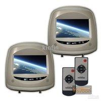 2X7 inch TFT LCD Car Pillow Headrest Monitor