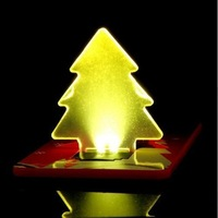 Christmas tree LED light /credit card LED lamp/Holiday gifts/promotion gifts/ Novel gifts/cheap gifts/best gifts